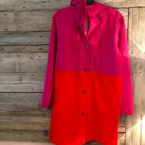 Stage Denmark Rain Coat Pink/Red size Small